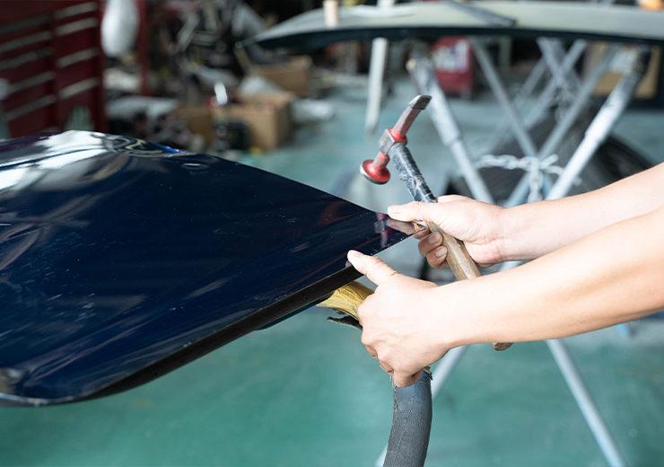 栃木県宇都宮市Carfe(カーフェ)自動車の修理・傷・へこみを格安で   車の板金画像